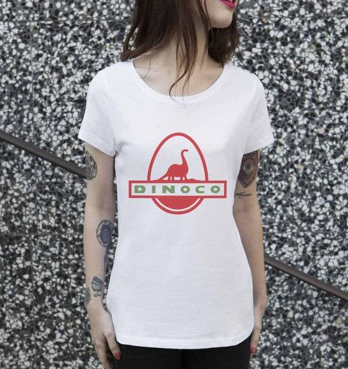 T-shirt pour Femme Femme Dinoco Toy Story de couleur Blanc