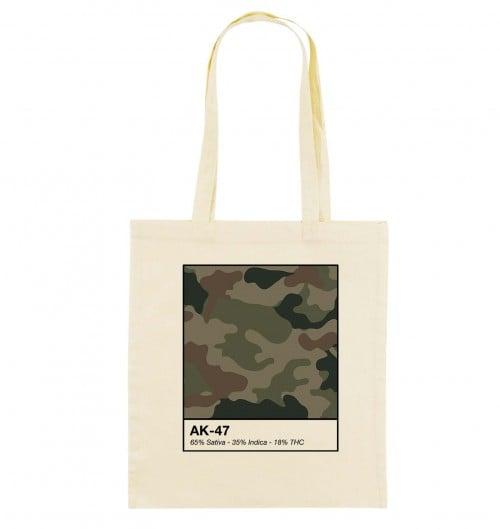 Tote Bag pour Femme AK-47 Kush de couleur Beige chiné