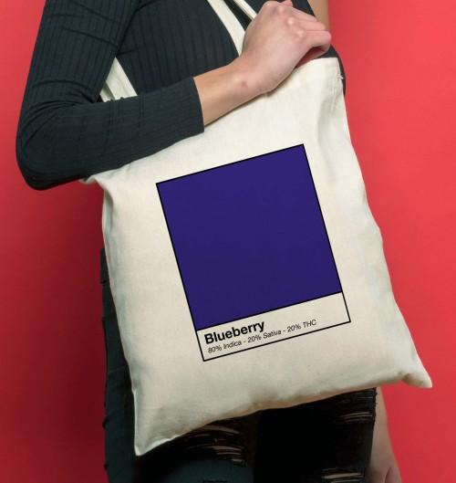Tote Bag pour Femme Blueberry de couleur Beige chiné