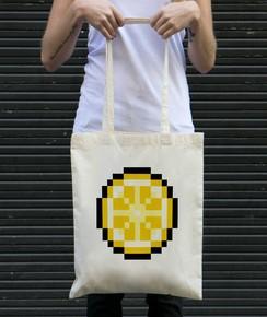Tote-Bag Pixel Citron