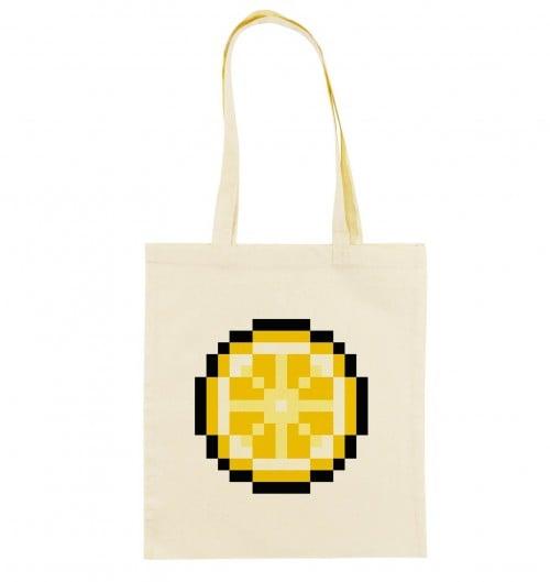 Tote Bag Pixel Citron