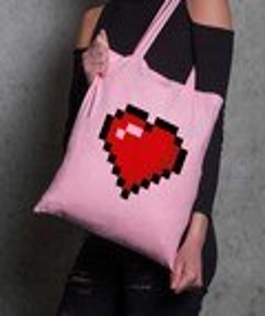Tote-Bag Pixel Coeur
