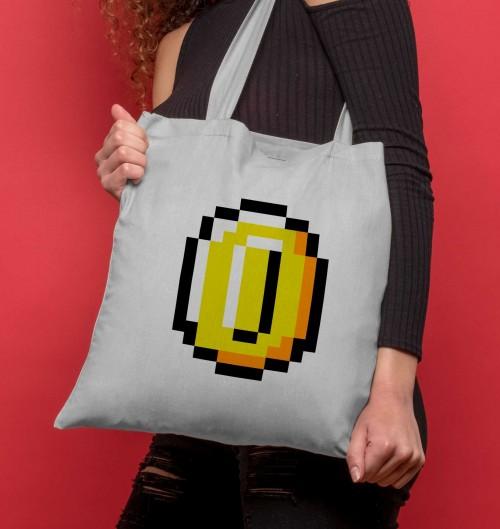 Tote Bag pour Femme Pixel Coins de couleur Gris