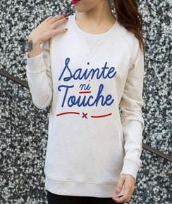 Détail Sweat Sainte Ni Touche Numérique