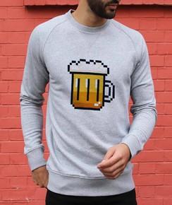 Sweat à col rond Pixel Bière