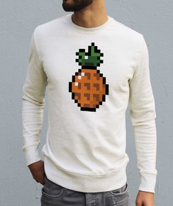 Sweat à col rond Homme Pixel Ananas