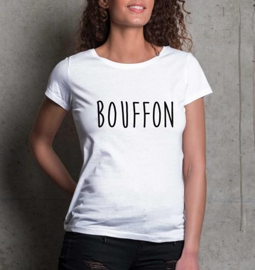 T-shirt pour Femme Femme Bouffon de couleur Blanc