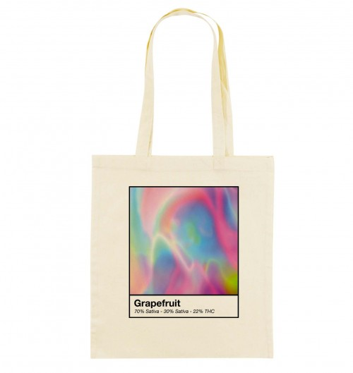 Tote Bag Grape Fruit de couleur Crème