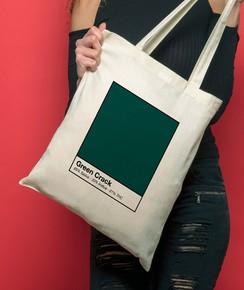 Tote Bag Green Crack