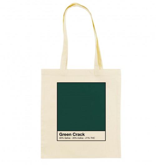 Tote Bag Green Crack de couleur Crème