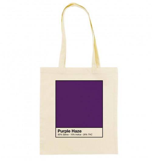 Tote Bag Purple Haze de couleur Camel
