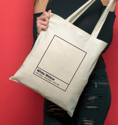 Tote Bag White Widow de couleur Crème