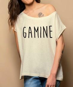 Détail T-shirt Loose Gamine Numérique
