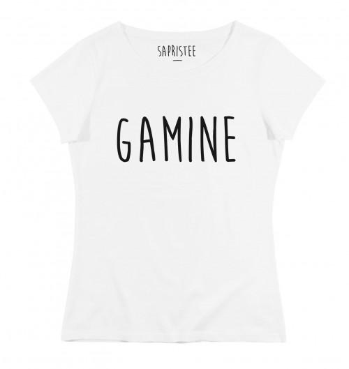 T-shirt pour Femme Femme Gamine de couleur Blanc