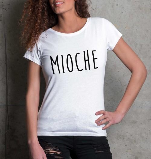 T-shirt pour Femme Femme Mioche de couleur Blanc