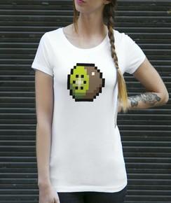 T-shirt à col rond Femme Pixel Kiwi