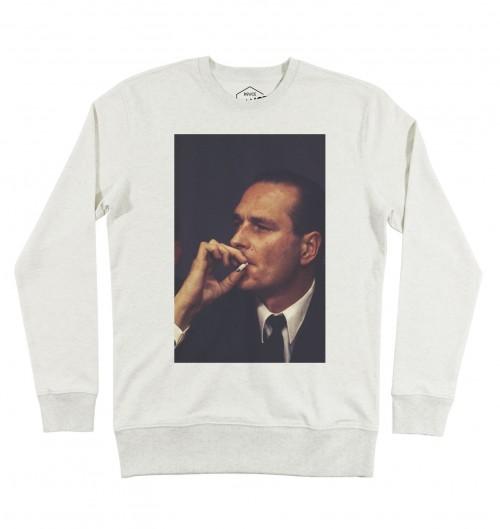Sweat-shirt pour Homme Chirac BG de couleur Gris chiné