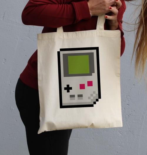 Tote Bag Game Boy de couleur Crème