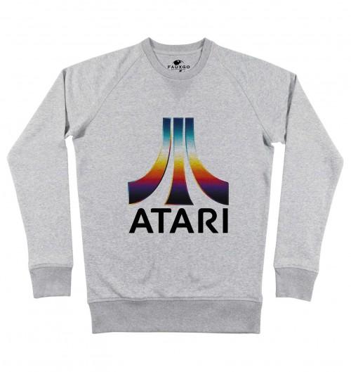 Sweat pour Homme Atari Couleurs de couleur Gris chiné