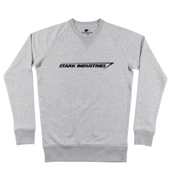 Sweat pour Homme Stark Industries de couleur Gris chiné