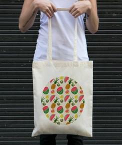 Tote Bag Motifs Fruits Été
