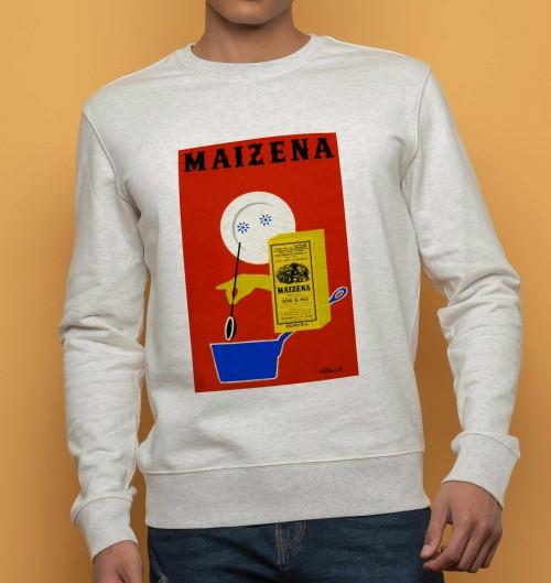Sweat pour Homme Maizena de couleur Beige chiné