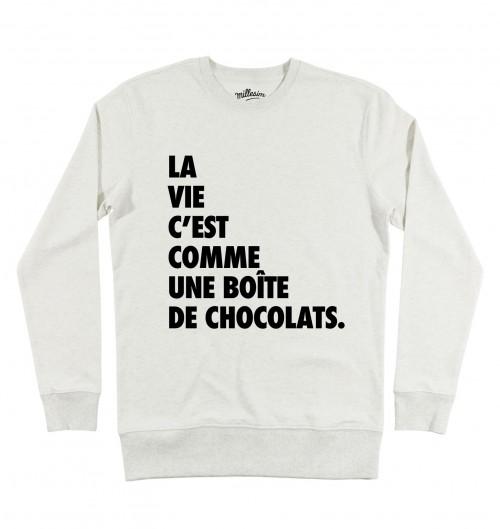 Sweat pour Homme Forrest Gump Chocolat de couleur Beige chiné