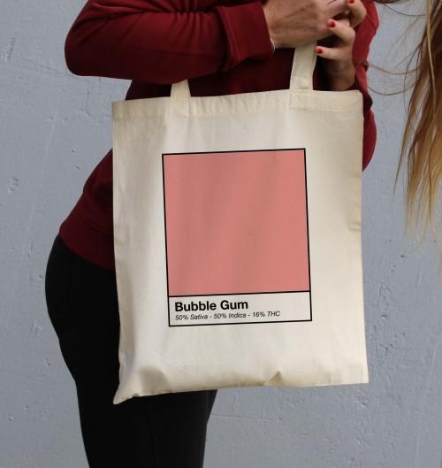 Tote Bag Bubble Gum de couleur Crème