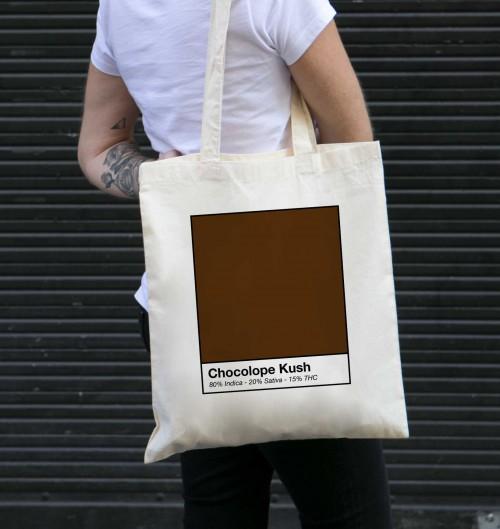 Tote Bag Chocolope Kush de couleur Crème