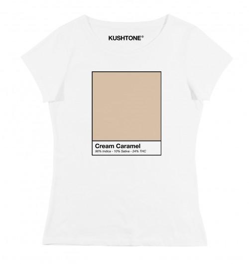 T-shirt pour Femme Femme Cream Caramel de couleur Blanc