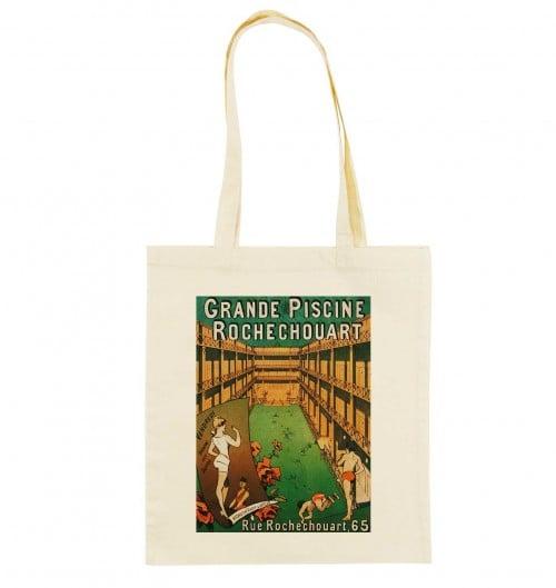 Tote Bag Grande Piscine Rochechouart de couleur Crème