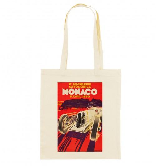 Tote Bag Monaco GP 1930 de couleur Crème