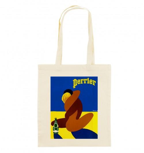 Tote Bag Perrier Villemot de couleur Crème