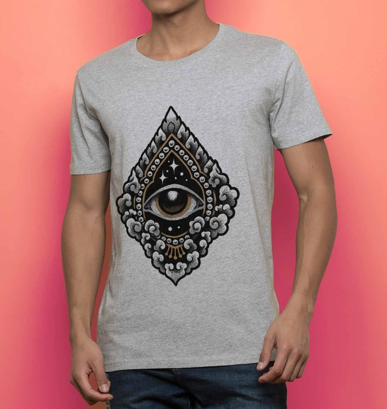 T-shirt 100% coton bio Cosmic Eye