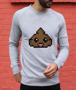 Sweatshirt à col rond Pixel Poop