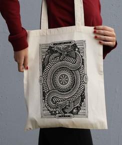 Tote Bag Infinity Snakes par Neon Mystic