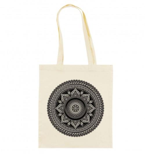 Tote Bag Mandala de couleur Crème