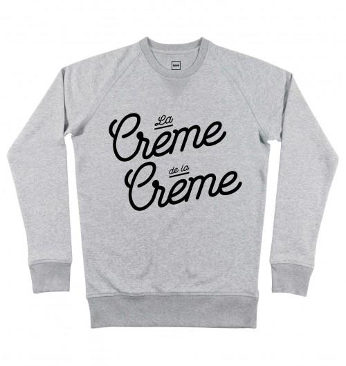 Sweat pour Homme La Crème De La Crème de couleur Gris chiné
