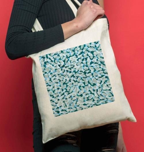 Tote Bag Bactéries de couleur Crème