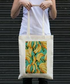 Tote Bag Motifs Bananes