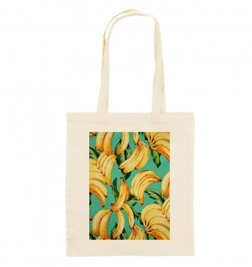 Tote Bag Motifs Bananes de couleur Crème