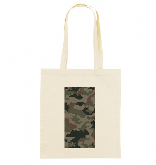 Tote Bag Camo Rectangle de couleur Crème