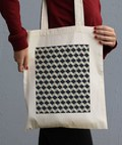 Tote Bag Motifs Cube 3D