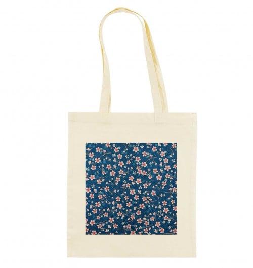 Tote Bag Fleurs Cerisier de couleur Crème