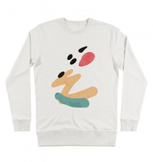 Sweat-shirt pour Homme Leak de couleur Beige chiné