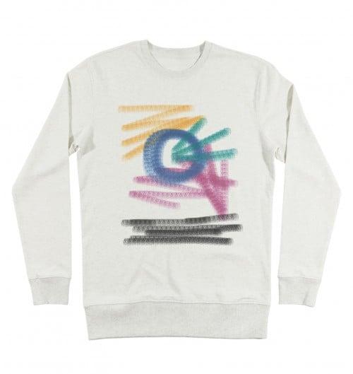 Sweat-shirt pour Homme Naive de couleur Beige chiné