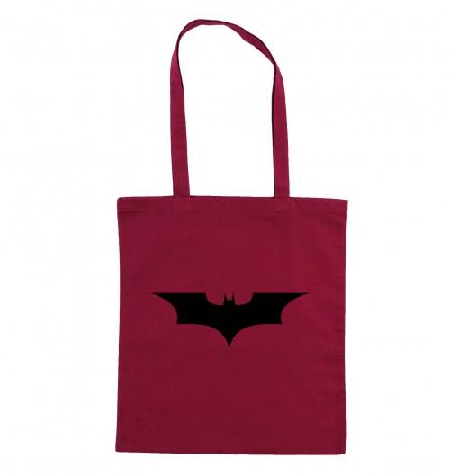 Tote Bag Logo Batman de couleur Cranberry