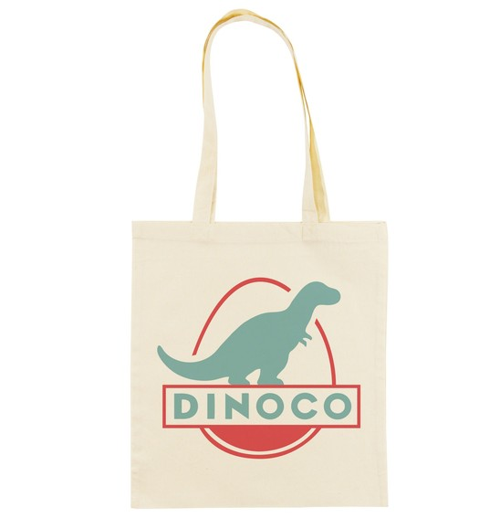 Tote Bag Dinoco Cars de couleur Crème