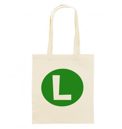 Tote Bag Luigi de couleur Crème