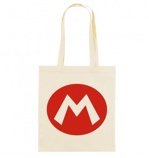 Tote Bag Logo Mario de couleur Crème